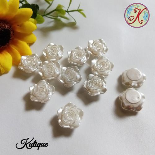 Foto Produk Mote Mawar / Resin Mawar 2cm lusinan dari Kutique Craft