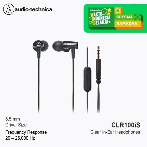 Foto Produk Special Price Audio-Technica earphone ATH-CLR100iS BK ( BLACK ) dari Audio-Technica Official