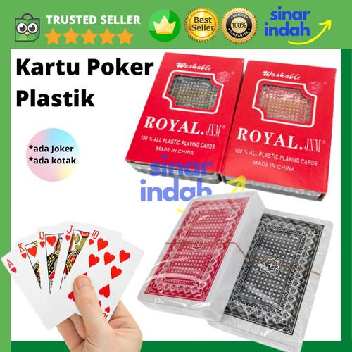 Foto Produk Kartu Remi Plastik ROYAL Kartu Poker PVC ANTI AIR Poker Blackjack Card - Single Set dari CV. Sinar Indah