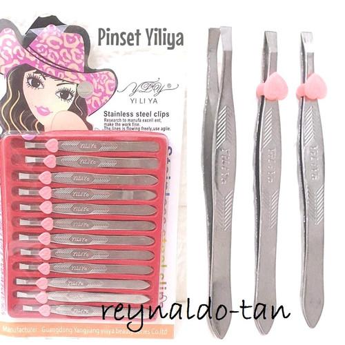 Foto Produk Pinset Bunga Stainless Steel Yiliya isi 12 pcs Silver dari reynaldo-tan