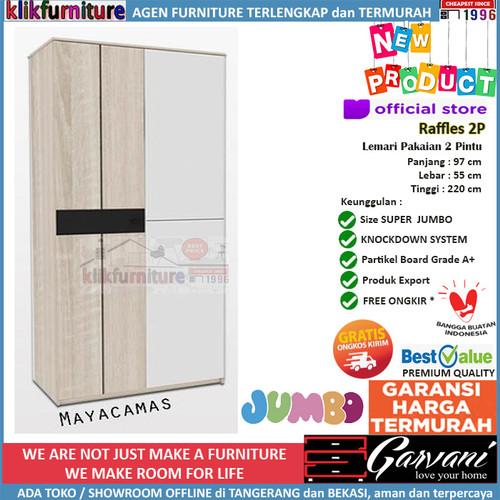 Foto Produk Lemari Pakaian 2 Pintu Jumbo Raffles 2P Garvani - Mayacamas dari klikfurniture