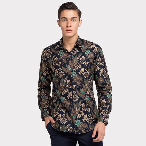 Foto Produk Enzy Batik Shirt raden Wijaya - Navy - S dari Enzy Batik