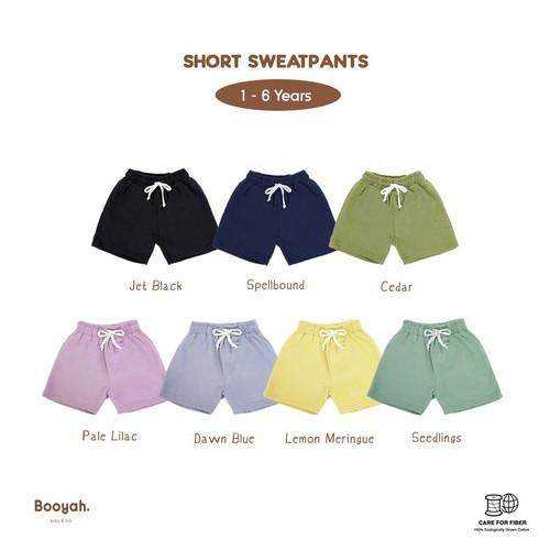 Foto Produk Celana Anak - Lincah Series Short Sweatpants - Jet Black, 3Years dari Booyahkids