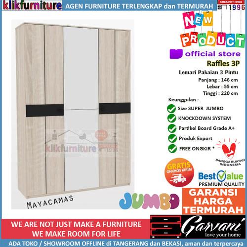 Foto Produk Lemari Pakaian 3 Pintu Jumbo Raffles 3P Garvani - Mayacamas dari klikfurniture