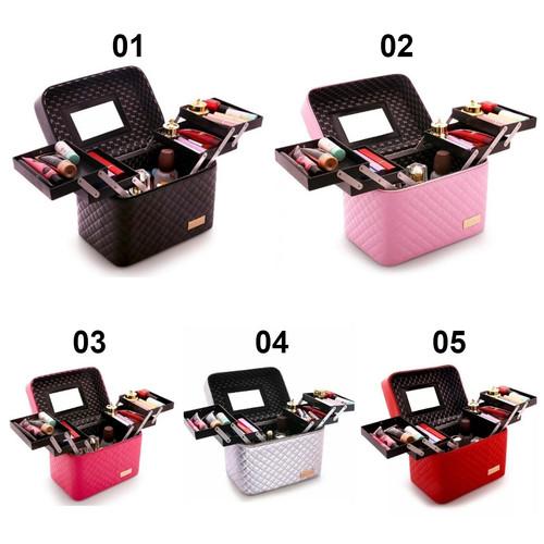 Foto Produk Tseloop BOX MAKE UP/Kotak Kosmetik/Beauty Case/Tas Kosmetik/waterproof - PART A, 01 dari Tseloop Mall