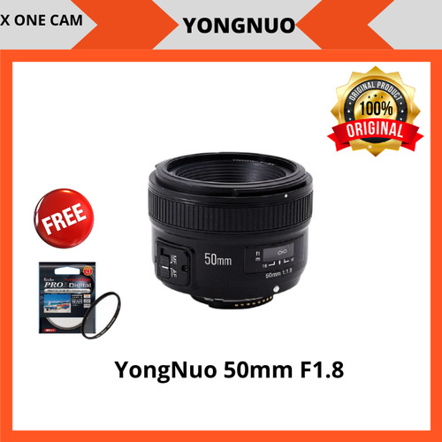 Foto Produk Lensa Fix YongNuo 50mm F1.8 For Nikon - Hitam dari X ONE CAM