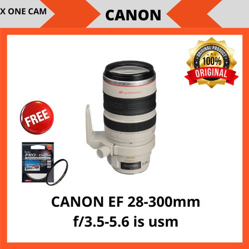 Foto Produk Lensa canon EF 28-300mm f/3.5-5.6 is usm - Putih dari X ONE CAM