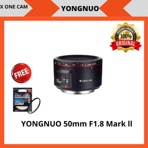 Foto Produk Lensa Fix YongNuo 50mm F1.8 Mark ll For Canon - Hitam dari X ONE CAM