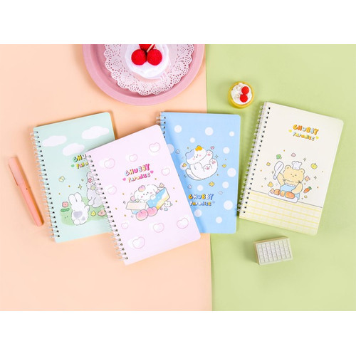 Foto Produk Chubby Paradise Spiral Ruled Notebook A5 dari Pinkabulous