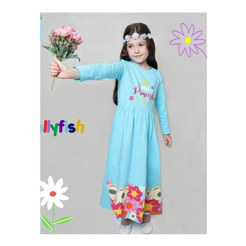 Foto Produk GAMIS ANAK PEREMPUAN/GIRL JELLYFISH FLOWER PRINCES BLUE SIZE 6 dari LitMeeCho