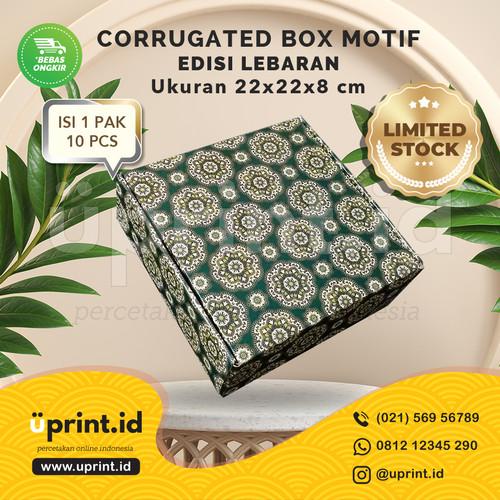 Foto Produk CORRUGATED MOTIF LEBARAN |22x22x8 cm|BOX HAMPERS|LIMITED STOK dari Uprint.id