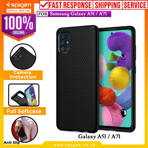 Foto Produk Case Samsung Galaxy A51 / A71 Spigen Liquid Air Softcase Black Casing - A71 dari Spigen Official