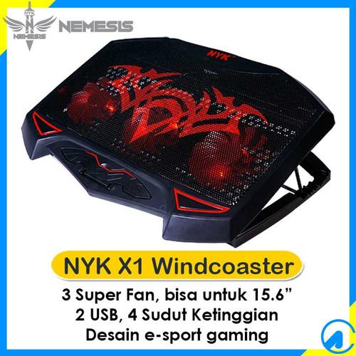"Foto Produk NYK X-1 X1 Windcoaster Gaming Notebook Cooling Pad 3 Fan 15.6"" 2 USB dari Artica Computer"