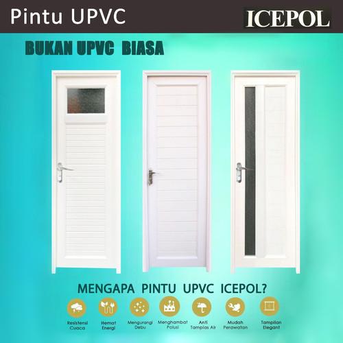 Foto Produk Pintu Kamar Mandi UPVC + Gagang / Kunci / Hendel /Handle dari serisaito