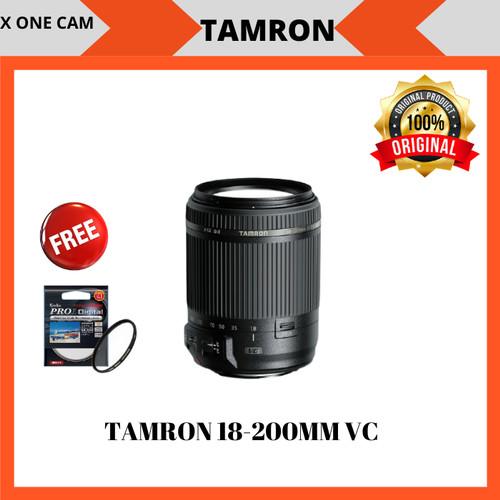 Foto Produk lensa tamron 18-200mm VC DII f/3.5-6.3 for CANON DAN NIKON - Hitam dari X ONE CAM