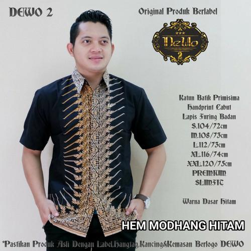 Foto Produk kemeja batik slimfit modhang hitam dari Jivan Batik