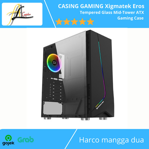 Foto Produk CASING GAMING Xigmatek Eros - Tempered Glass Mid-Tower ATX Gaming Case dari AL computerr