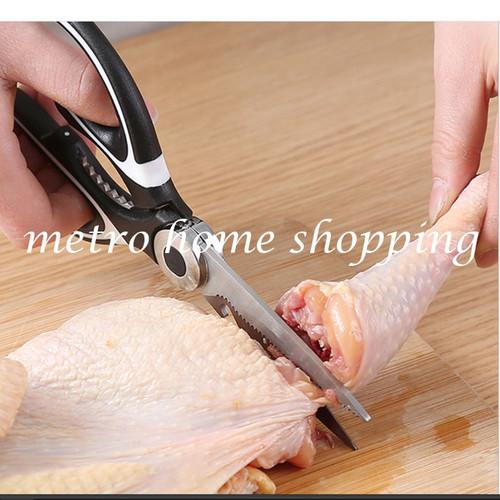 Foto Produk Gunting dapur serbaguna/ gunting ayam ikan sayur super tajam - MHS011 - Hitam dari Metro_home_shopping