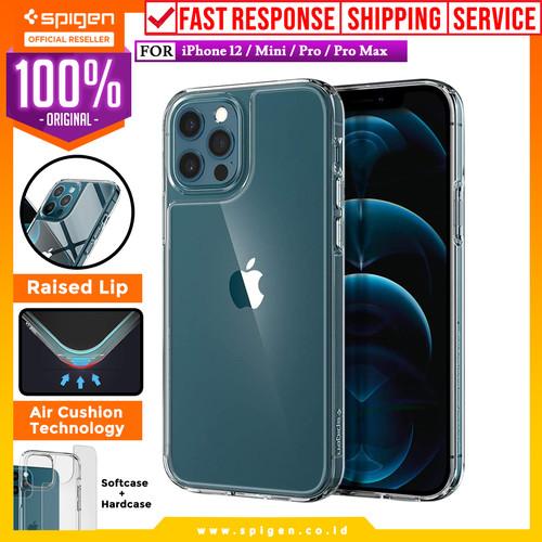 Foto Produk Case iPhone 12 Pro Max / Pro / Mini Spigen Quartz Hybrid Glass Casing - 12 Mini dari Spigen Official