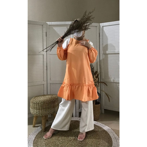 Foto Produk Tunik Fashion Wanita Muslim Terbaru Termurah | Xessa Tunic - G Orange dari Covering Story
