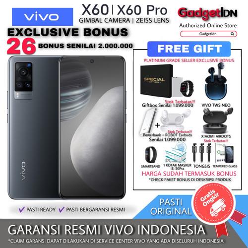 Foto Produk VIVO X60 PRO | X60 X60PRO 8/128GB 8/256GB 12/256GB GARANSI RESMI - X60 11/128GB, BLACK + 26BONUS dari GadgetIDN