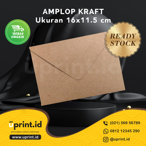 Foto Produk Amplop Kraft | Amplop Polos | Amplop Kraft Polos | 16x11.5 cm dari Uprint.id