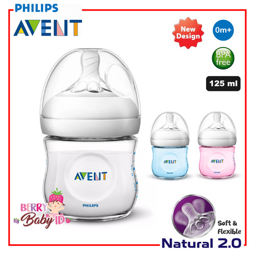 Foto Produk Botol Susu Avent Natural New 2.0 125 ml Single Pack dari Berry Baby