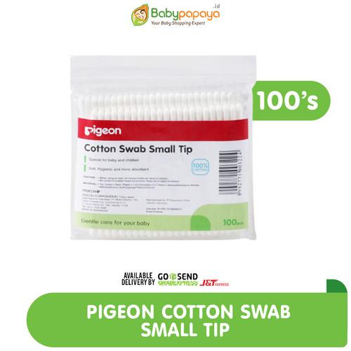 Foto Produk PIGEON Cotton Swab 100'S Small Tip / Cotton Buds Isi 100 - K0000213 dari Babypapayaid