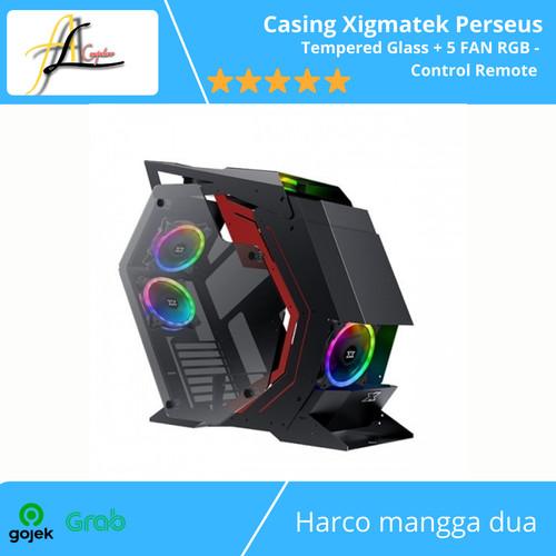 Foto Produk Casing Xigmatek Perseus -Tempered Glass + 5 FAN RGB - Control Remote dari AL computerr