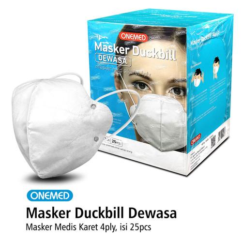 Foto Produk Masker Karet Medis Duckbill 4ply OneMed Box Isi 25 Lembar dari Onemed Rawat Luka
