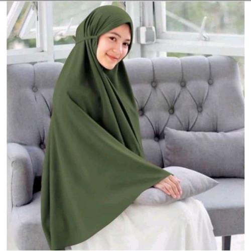 Foto Produk Bergo Maryam Diamond XL / Hijab Instan ukuran Jumbo / Jilbab Cantik - army dari Adelia.Hijab