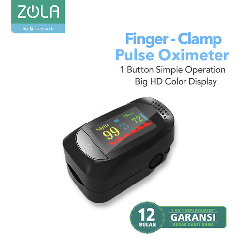 Foto Produk Zola Fingertip Pulse Oximeter Sp02 Saturation Monitor HD Color Display - Hitam dari Zola Indonesia