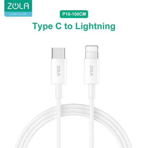 Foto Produk Zola P10 Kabel Data Type-C To Lightning PD 18W 100cm Fast Charger 2,4A dari Zola Indonesia