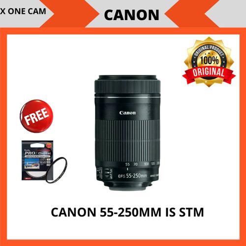 Foto Produk lensa canon EFS 55-250mm f/4-5.6 is STM - Hitam dari X ONE CAM