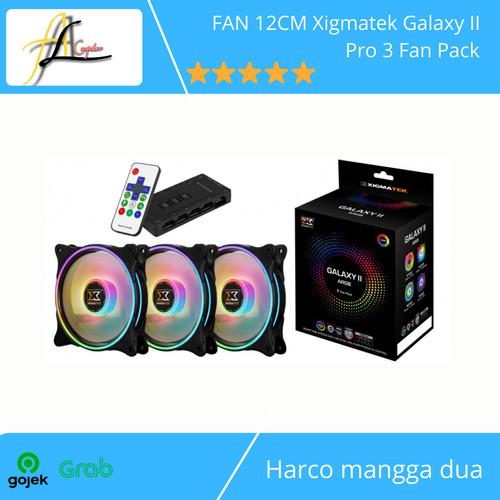 Foto Produk FAN 12CM Xigmatek Galaxy II Pro 3 Fan Pack dari AL computerr