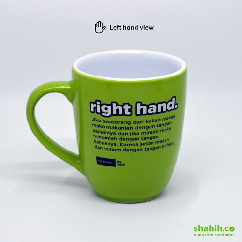 Foto Produk Mug – Mengingatkan untuk Pake Tangan Kanan Ketika Minum dari Shahih co