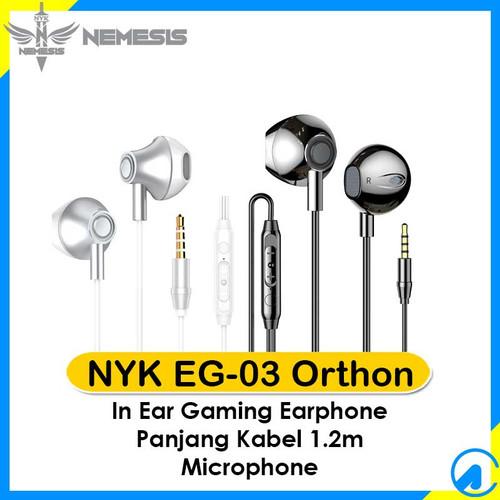 Foto Produk NYK EG-03 Orthon Gaming Earphone EG03 In Ear - Putih dari Artica Computer