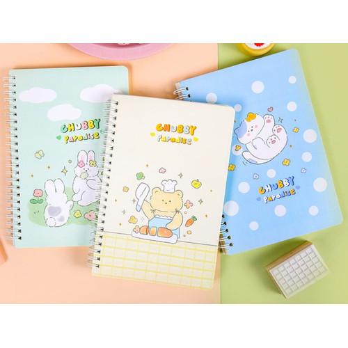 Foto Produk Chubby Paradise Spiral Ruled Notebook B5 dari Pinkabulous