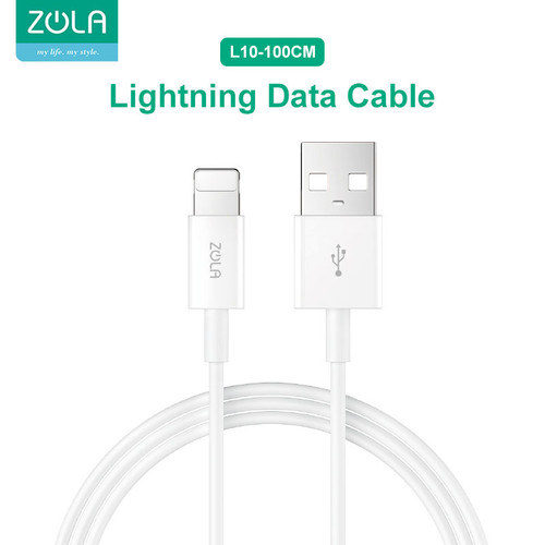 Foto Produk Zola L10 Kabel Data Charger Lightning 100cm Fast Charging Cable 2.4A dari Zola Indonesia