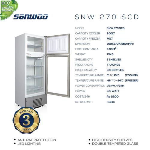 Foto Produk Showcase 2 in 1 (Cooler & Freezer) SNW-270 SCD dari Sanwoo Electronics