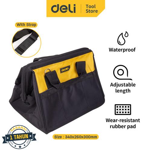 Foto Produk Deli Tool Bag / Tas Perkakas 16 inch Multifungsi Bahan Kuat DL-P2 dari Deli Tools Official