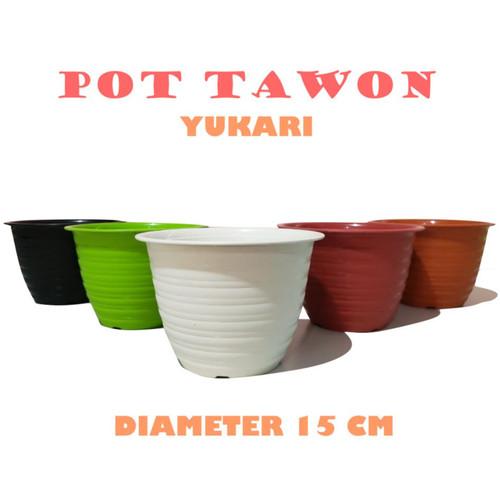 Foto Produk Pot Tanaman - Pot Tawon Merk Yukari Warna Warni - Hitam dari GudangHelm