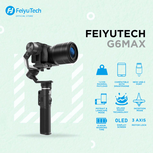 Foto Produk Feiyu G6 Max 3-Axis USB Cable and Wi-Fi Control Stabilized Handheld dari Feiyutech Official ID