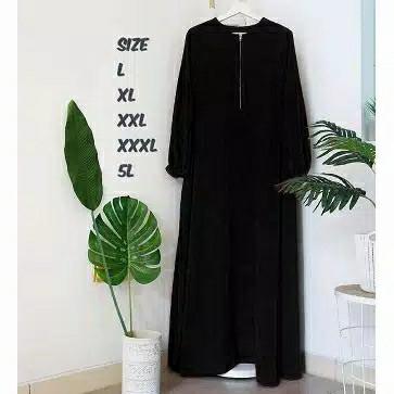 Foto Produk gamis syari qiandra gamis ukuran jumbo L XL XXL - Hitam, L dari genre hijab
