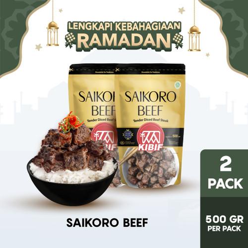 Foto Produk KIBIF Beef Saikoro / Daging Sapi Cubes 500 Gr Multipack dari KIBIF Official Store
