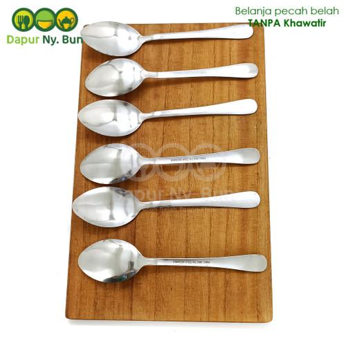 Foto Produk 6 Pcs Sendok Makan Stainless Steel Polos Noble dari Dapur Ny.Bun