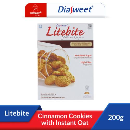 Foto Produk DIASWEET LITEBITE Cinnamon Biskuit Bebas Gula Kaya Serat 200gr Sehat dari Konimex Store