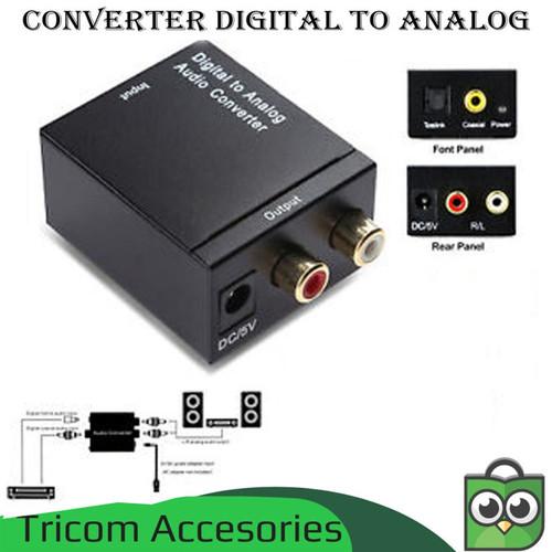 Foto Produk Converter Audio Digital to Analog - Optical / Toslink to 2 RCA dari Tricom accesories
