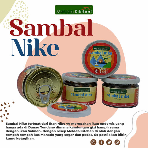 Foto Produk Sambal Nike Meldeb Kitchen Premium Homemade Asli Manado 150gr - Level 2 dari MeldebKitchen