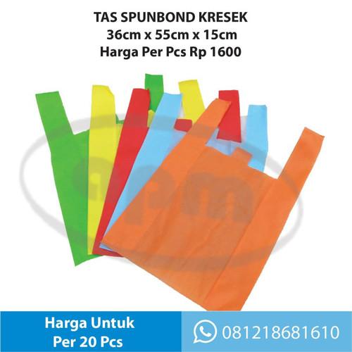 Foto Produk Tas Kresek Spunbond 36cm x 55cm x 15cm - Putih dari Promosi APM